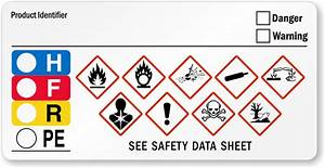 ghs hazard and hmig combo label sku lb 2945 With ghs label stickers
