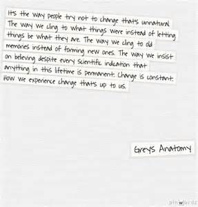 Grey's Anatomy Change Quote