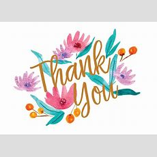 Soft Flowers  Thank You Card Template (free)  Greetings Island