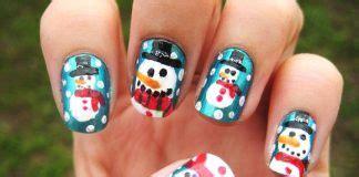 happy birthday themed nail art designs ideas