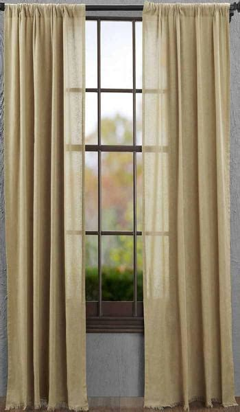 tobacco cloth khaki curtain panel   allysons place
