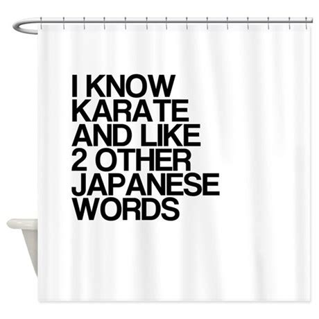 funny karate japanese words shower curtain  thecafemarket