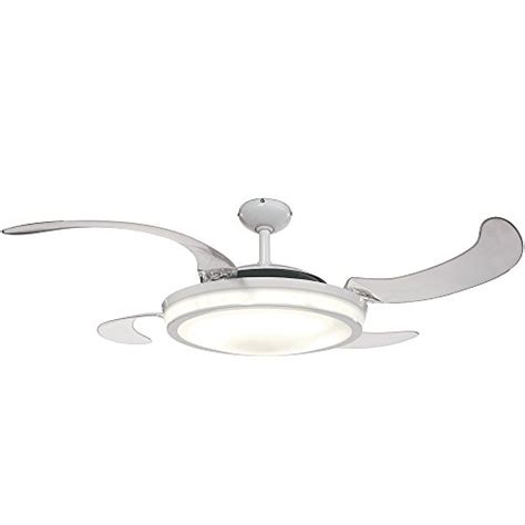 control ceiling fan with alexa hunter 59086 fanaway retractable blade 48 quot white ceiling