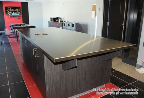 cuisine inox bois inox design comptoir en acier inoxydable alliage