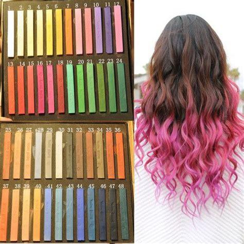 Hair Chalk Temporary Hair Color Dye Diy Salon Kits Soft