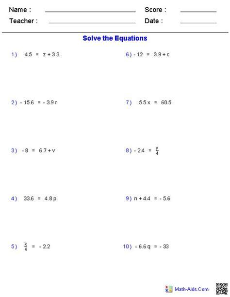 solving decimal equations tessshebaylo