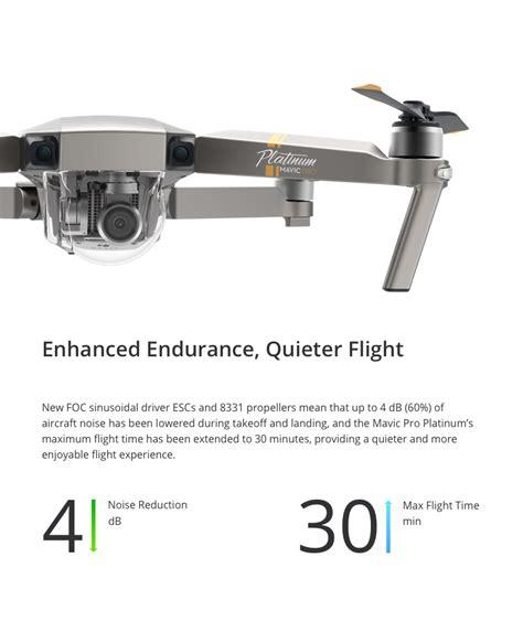 dji mavic pro platinum foldable drone rtf fly  combo
