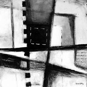 Black And White Abstract Contemporary Minimal Art By Laura ...