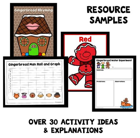 gingerbread theme home preschool lesson plans home 742 | Resource Samples GBM