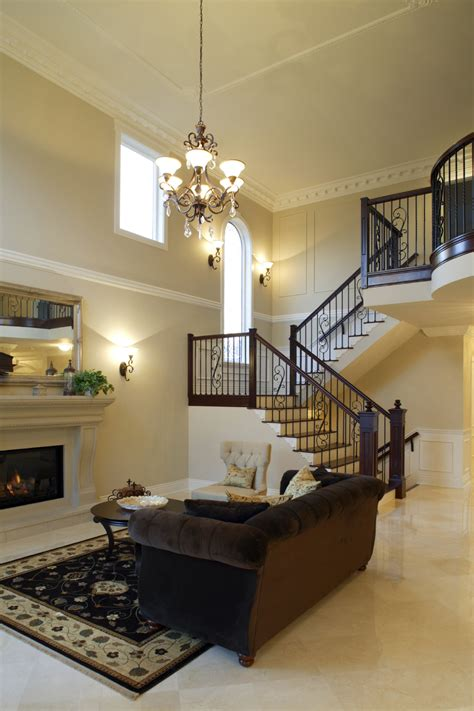 living room small and wooden staircases brick wall design 54 living rooms with soaring 2 cathedral ceilings