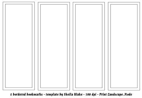bookmark template publisher template bookmark template