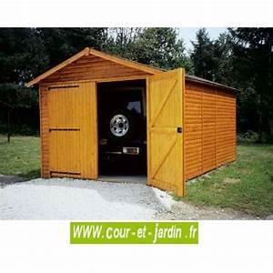 Garage Voiture En Bois : garage pour voiture en bois garages bois en kit demontable ~ Dallasstarsshop.com Idées de Décoration