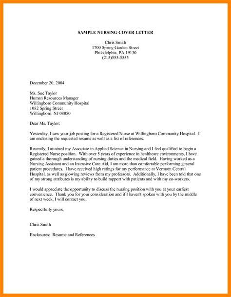 Nursing Resume Cover Letter Exles by 8 Application Letter For Learnership Nanny Resumed