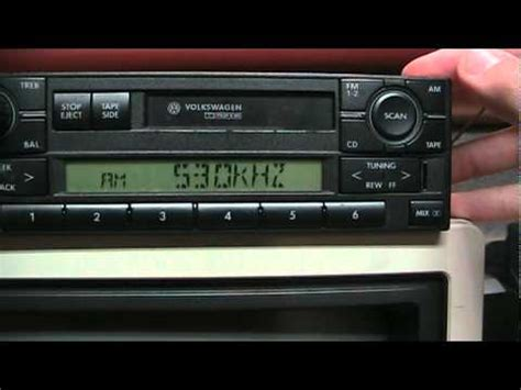 Volkswagen Radio Tips Installation Removal Entering Code