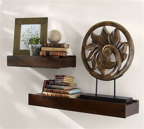 pottery barn shelf rustic wood shelves pottery barn