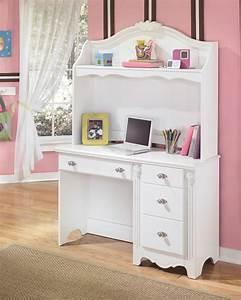 Exquisite, -, White, -, Desk, With, Hutch