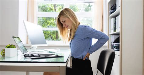 How do you deal with back pain at work?