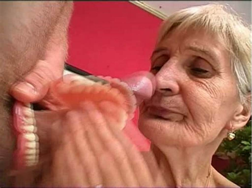#Blonde #Granny #Irene #Gives #Head #With #Her #Toothless #Mouth