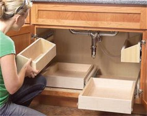 kitchen cabinet pull out drawer organizers organize your cabinets build these rollout sink 7913