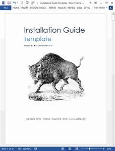 Installation Guide Template  Ms Word   U2013 Templates  Forms