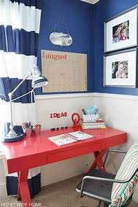 great ideas for setting up a homework station for any With boys homework desk