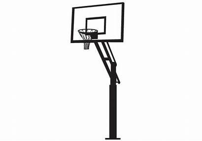 Basketball Hoop Clipart Side Cartoon Backboard Stand