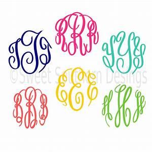 Master circle monogram font script cursive font svg dxf eps for Cursive monogram font