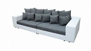 Kissen Grau Weiß : bigsofa giga wei grau inkl kissen 305 cm ~ Whattoseeinmadrid.com Haus und Dekorationen