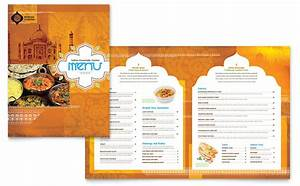 indian restaurant menu template word publisher With microsoft publisher menu templates free