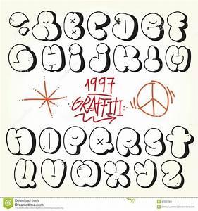 Graffiti Bubble Letters Alphabet A-Z Design   theveliger