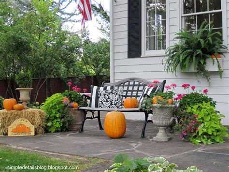 in outdoor decorations simple details outdoor fall decor