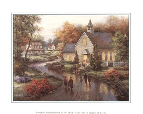 country church fine art print  tc chiu
