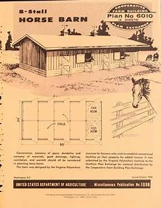 vintage plans 8 stall horse barn vintage print books With 8 stall horse barn plans