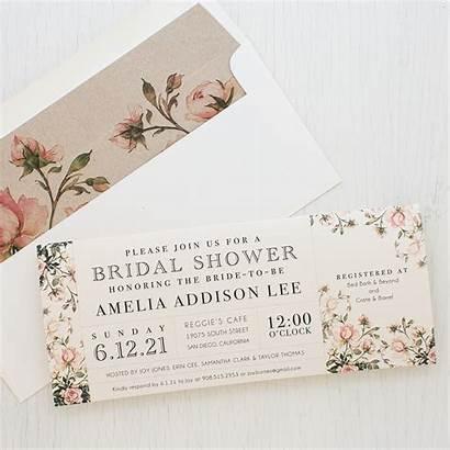 Bridal Shower Invitations Invitation Garden Floral Envelope
