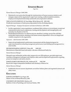 hr executive resume example sample resume executive With human resources manager resume summary