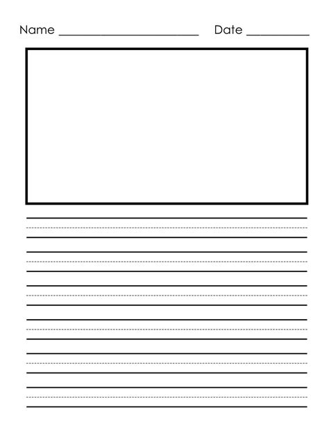 writing paper printable  children notebook paper