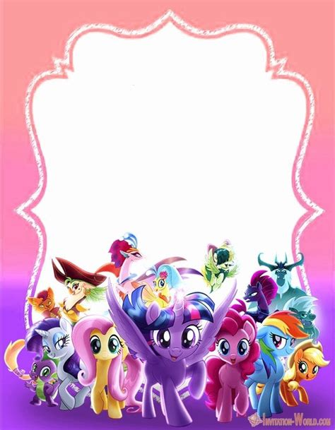 pony invitation templates  invitation world