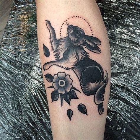 rabbit tattoo ideas images  pinterest rabbit tattoos rabbits  animal tattoos