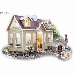 Grande Cabane Enfant : cabane enfant bois paris achat vente maisonnette ext rieure cdiscount ~ Melissatoandfro.com Idées de Décoration
