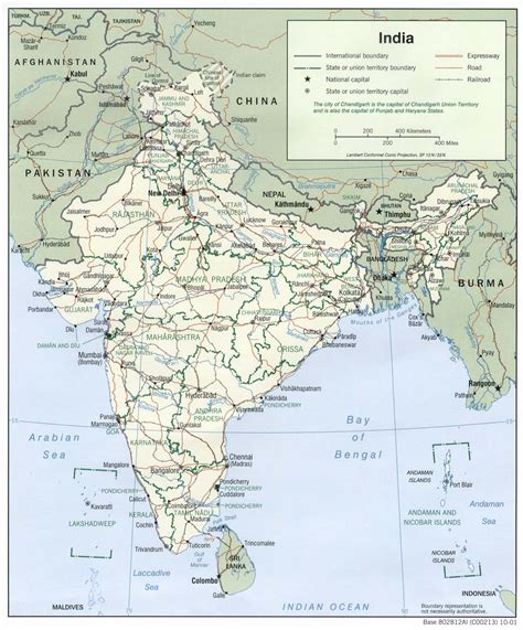 Carte Politique Du Monde Indien by Inde Carte