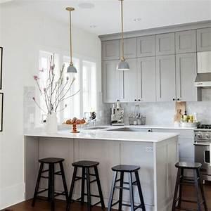 cuisines blanches et grises idee deco cuisine blanc gris With idee deco cuisine avec cuisine en gris et blanc