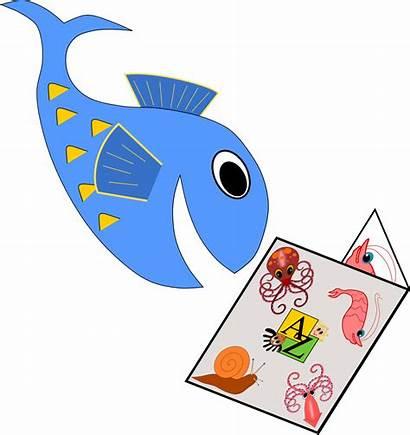 Fish Reading Clipart Aardvark Clip Publishing Inc