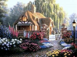 fond ecran paysage de maison the darkness purple With dessin de belle maison 14 une ruche dans son jardin