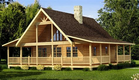 Log Home Plans With Wrap Around Porches