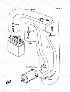 Kawasaki Jet Ski 1989 Oem Parts Diagram For Electrical Equipment