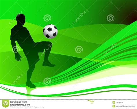 soccer player  abstract green background stock images