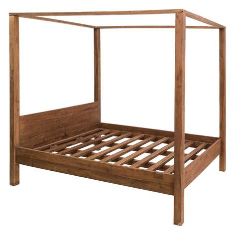 letto baldacchino legno letto baldacchino legno massello mobili industrial e vintage
