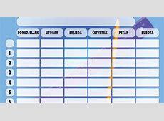 Downloadaj raspored sati za početak nove školske godine