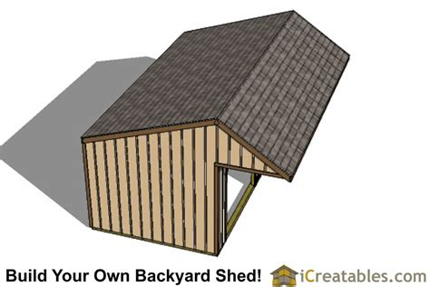 12x24 Shed Plans Materials List by 12x24 Run In Shed Plans With Cantilever