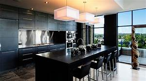2015 With built black kitchen island in your modern home
